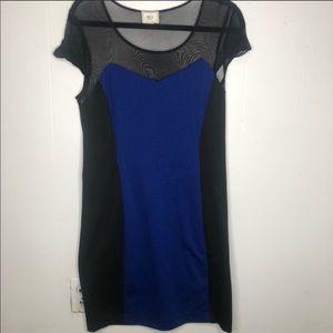 Colorblock Mesh Top Dress